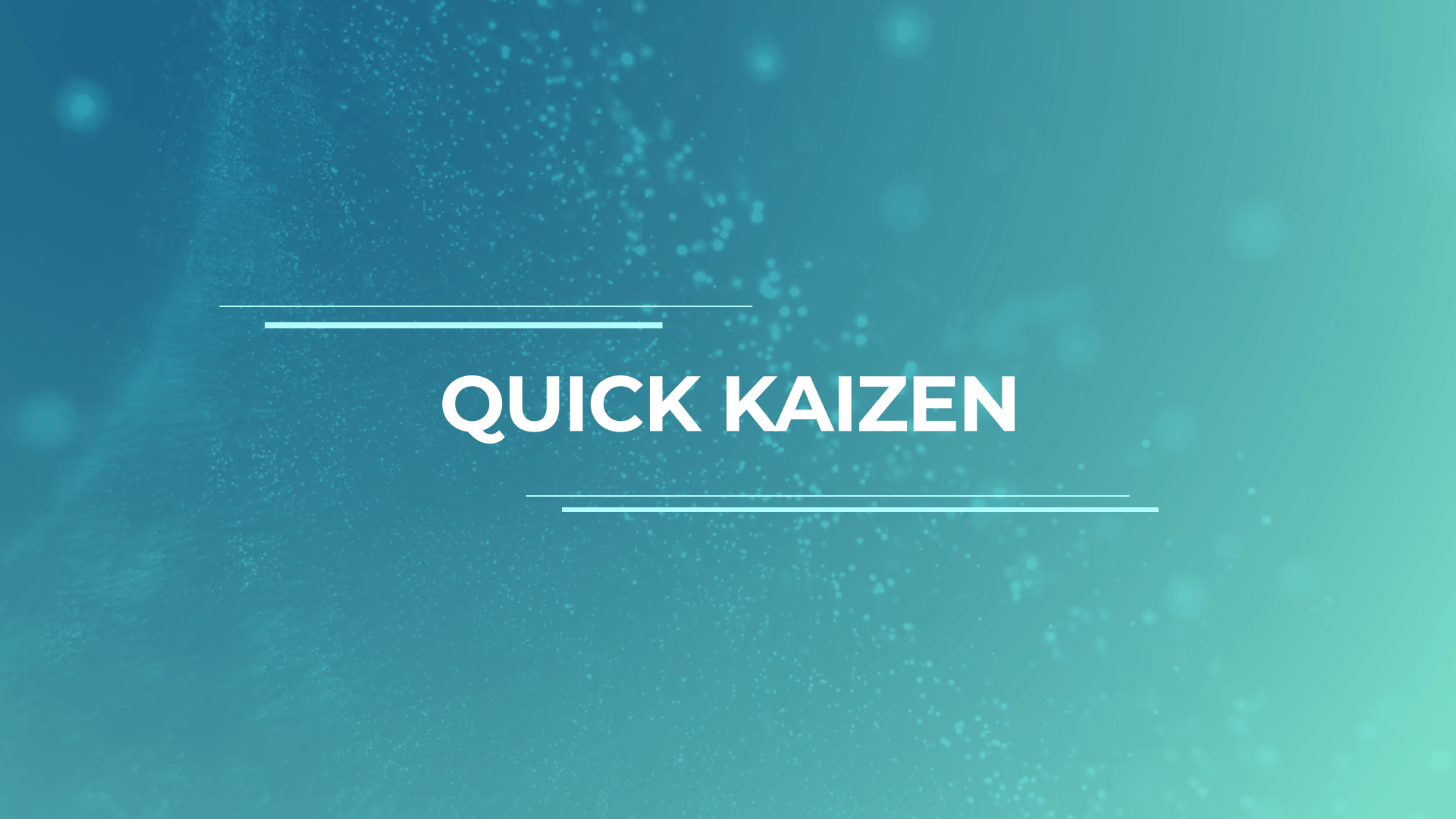 Employee ideas in Quick Kaizen module